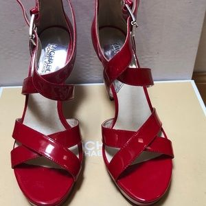 Michael Kors Red platform sandals